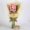 20 Pink Roses Bouquet & Ferrero Rocher Box