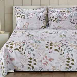 Luxurious Superfine PolyCotton Bedsheet with 2 Pillow covers