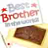 Rakhi Gifts to India, World's Best Brother Chocolate Box with Pearl Rakhi