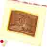 Happy Rakhi Message Chocolate Bar Small Red Pearl Rakhi